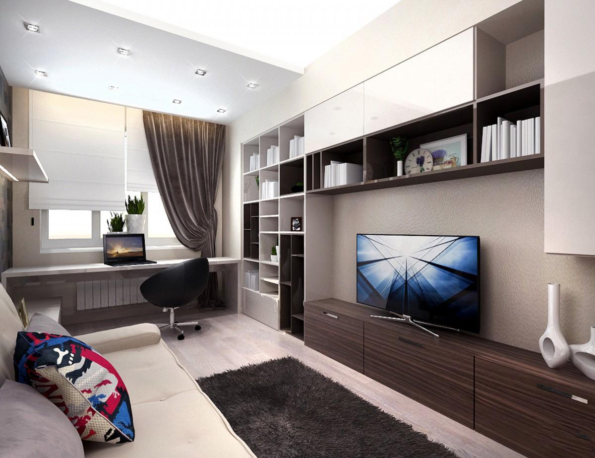 Интерьер гостиной в стиле минимализм.