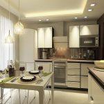 Варианты дизайна стен на кухне