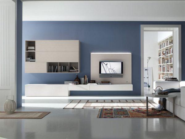 Интерьер в стиле хай тек с белой мебелью