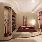 Подиум со встроенной кроватью японской гостиной