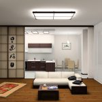 Натяжной потолок в японском стиле