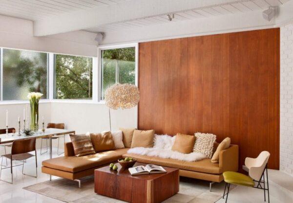 Отделка стен деревом в интерьере в стиле кантри