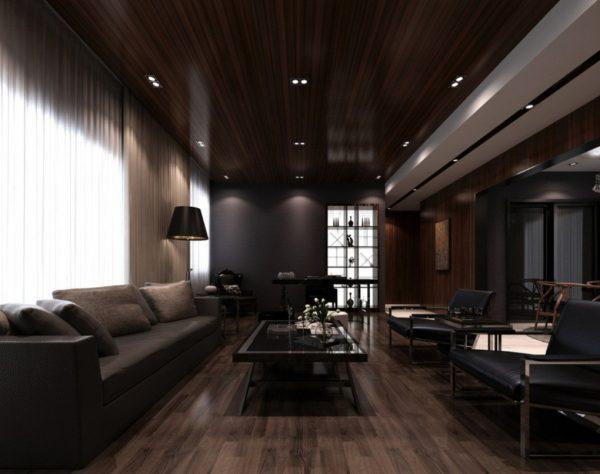 Дизайн с темными потолками