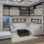 Белая гостиная в японском стиле