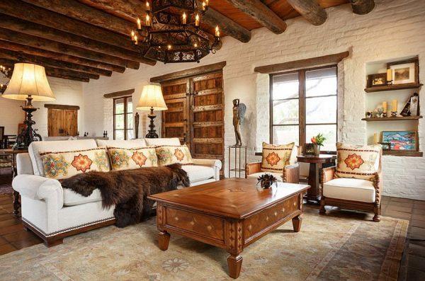 Стильная гостиная в кантри стиле