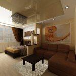 Идея зонирования гостиной спальни