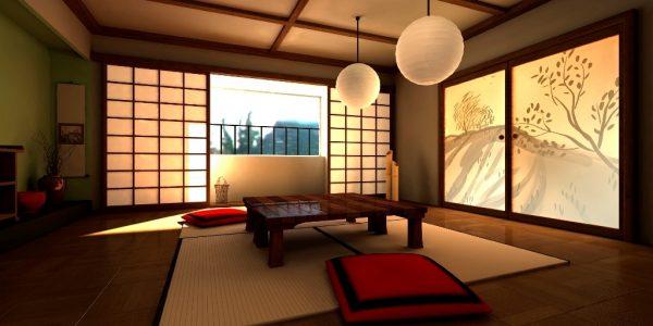 Освещение в японском дизайне