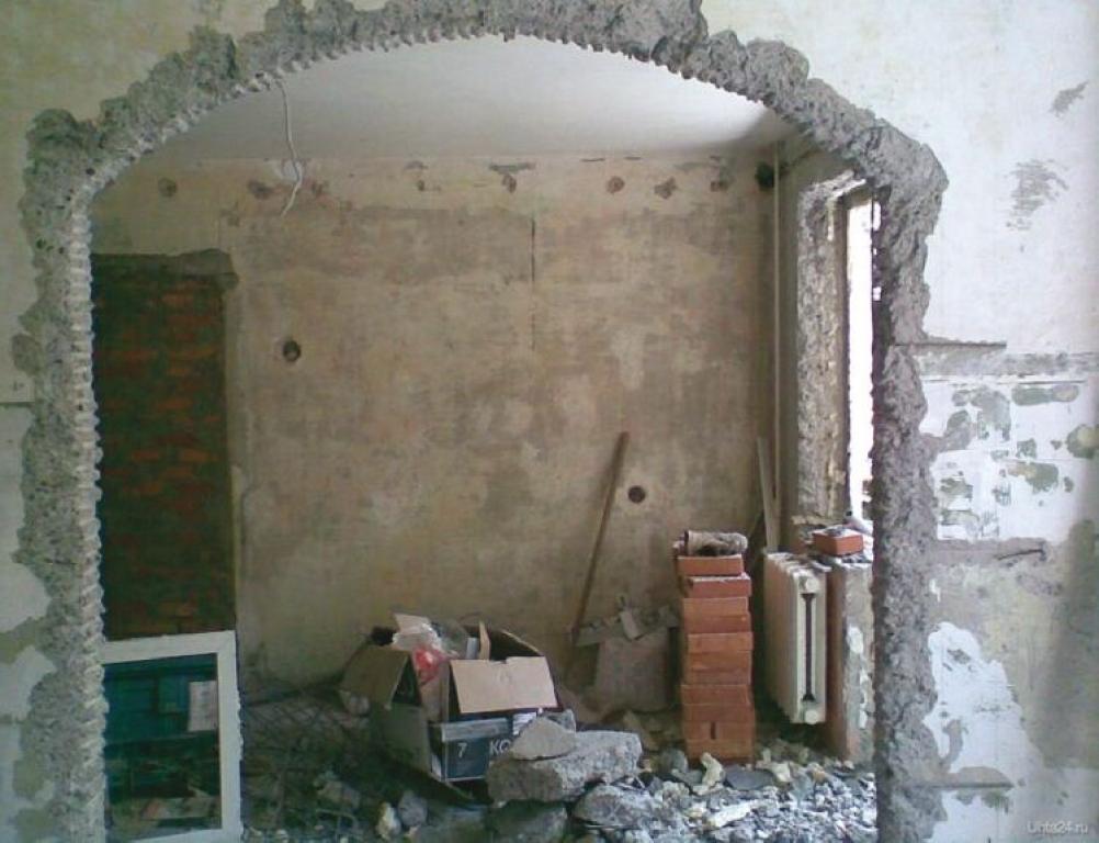 Подготовка поверхности для установки арки