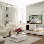 Белая гостиная в английском стиле