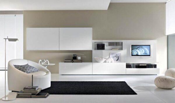 Белая мебель для гостиной в современном стиле