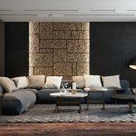 Черно-золотая гостиная.