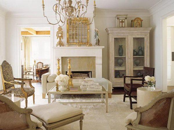 Дизайн гостиной французский прованс