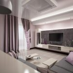 Современный дизайн квадратной гостиной