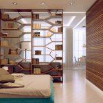 Дизайн спальни и гостиной в одной комнате.