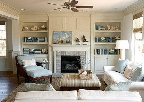Дизайн маленьких комнат с камином