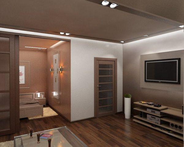 Дизайны спален гостинных