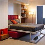 Кровать трансформер для маленькой гостиной спальни