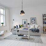 Освещение в для гостиной в скандинавском стиле