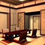 Дизайн гостиной в современном японском стиле