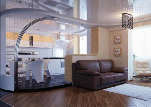 Кухня с подиумом