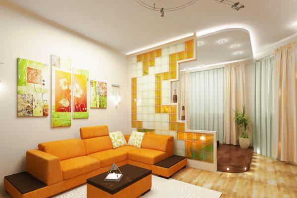 Дизайн детской зоны в гостиной