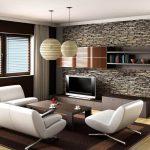 Натуральный камень в отделке гостиной
