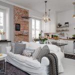 Скандинавский стиль интерьера кухни гостиной