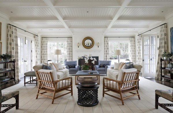 Мебель, актуальная для гостиной в стиле кантри.