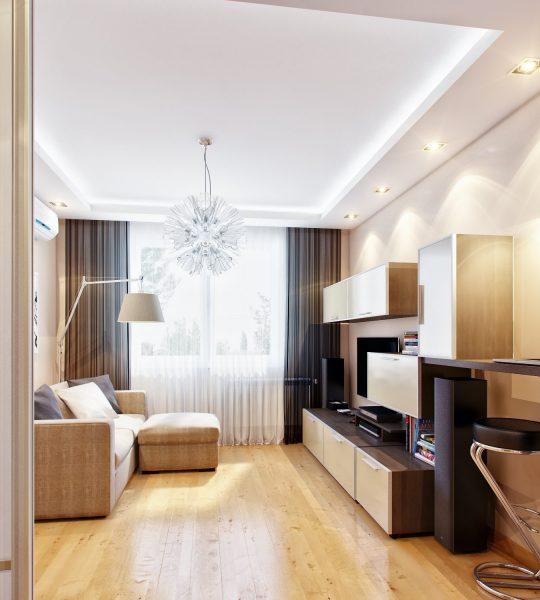 Современная гостиная спальня