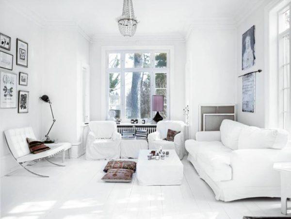 Дизайн интерьера в белых тонах