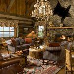 Использование натуральных материалов в декоре гостиной