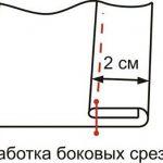 Обработка боковых срезов