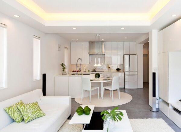 потолок в кухне гостинной