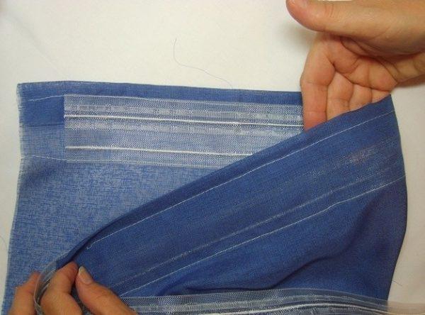 Пришивание шторной тенты