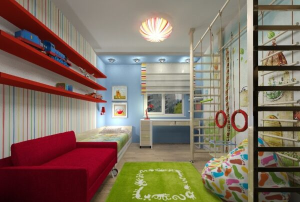 Яркая мебель для гостиной детской