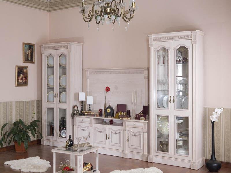 белая мебель в гостиную в современном и классическом стиле
