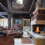 Интерьер деревянного дома в стиле русское кантри