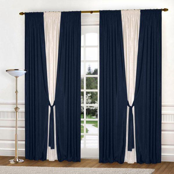 Широкие шторы из репса для гостиной