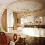 Декоративные арки между кухней и гостиной