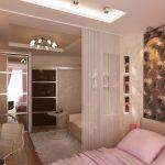Светло бежевый интерьер гостиной спальни