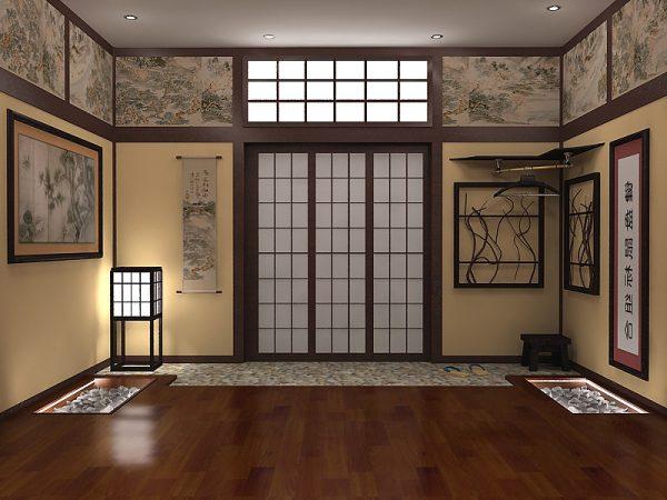 Цветовое решение в интерьере в японском стиле
