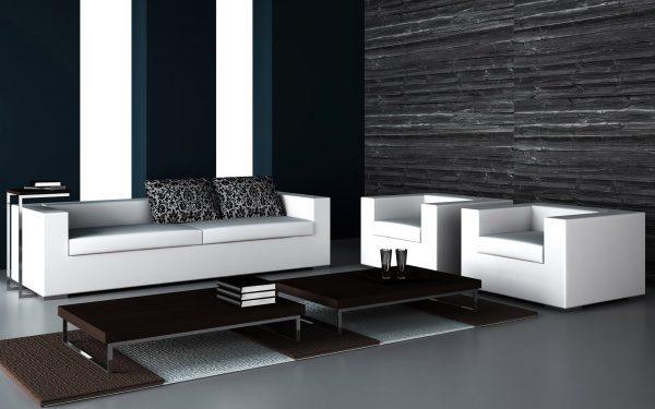 Темные стены белая мебель в интерьере