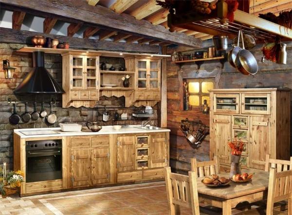 Эксцентричные кухни под старину: креативный самобытный дизайн