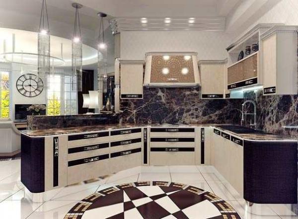 Кухня в стиле арт-деко: актуальный дизайн в любую эпоху
