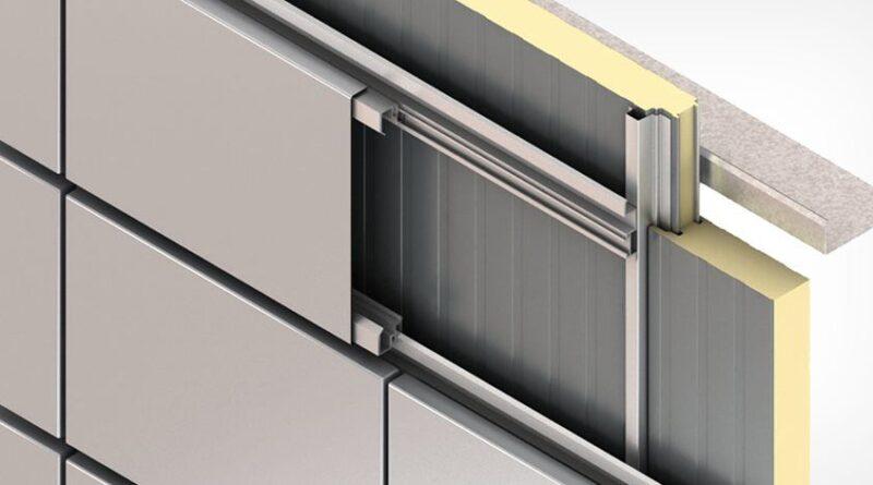 Монтаж стеновых панелей с помощью алюминиева профиля